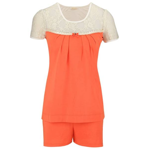 Shorty-Pyjama - Kelly - peach/champagner